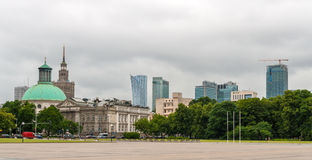 Pilsudski Square in Warsaw, Poland Royalty Free Stock Photography