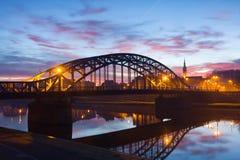 Pilsudzki bridge in the early morning, Krakow, Poland Royalty Free Stock Photo