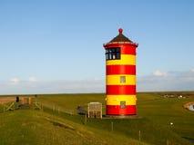 Pilsum,在德国的北海的灯塔 免版税库存照片