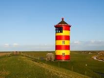 Pilsum,在德国的北海的灯塔 免版税库存图片