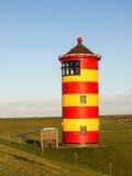 Pilsum, latarnia morska przy Północnym morzem Niemcy Zdjęcie Royalty Free