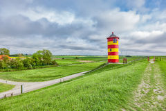 The Pilsum lighthouse Stock Photo