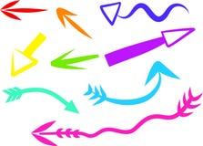 pilsymboler royaltyfri illustrationer