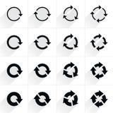 Piltecknet förnyar, rotation, nollställningen, repetitionsymbol Royaltyfri Bild