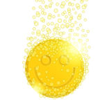 Pilule avec le smiley Images stock