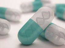 Pilule d'ADN Images libres de droits