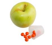 Pilule d'Apple photos stock