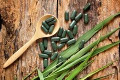 Pilule de chlorophylle photos libres de droits