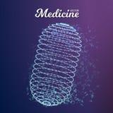 Pilule de médecine de vecteur illustration stock