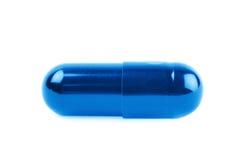 Pilule simple de capsule de softgel d'isolement photographie stock