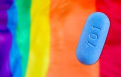 Pilule utilisée pour la préparation d'HIV images stock