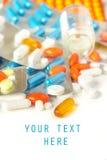 Pilules assorties Images libres de droits