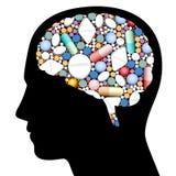 Pilules Brain Head Images stock
