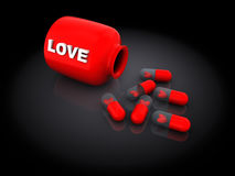 Pilules d'amour Photos libres de droits