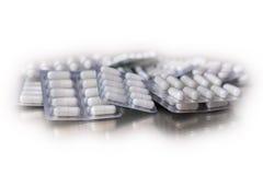 Pilules d'antibiotique de comprimé de médecine Photographie stock