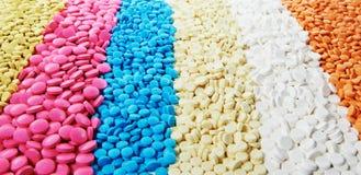 Pilules d'antibiotique de comprimé de médecine image stock