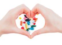 Pilules d'antihypertensif photo libre de droits