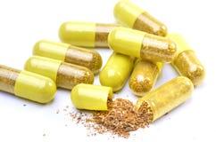 Pilules d'herbe photographie stock libre de droits