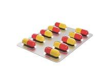 Pilules dans un habillage transparent Image libre de droits