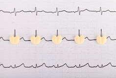 Pilules de forme de coeur Photographie stock libre de droits