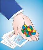Pilules de graphique circulaire Illustration Stock