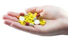 Pilules de paume Photographie stock