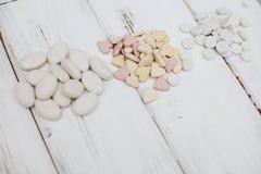 Pilules de vitamines pour des animaux familiers Photo stock
