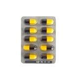 Pilules emballées Photographie stock