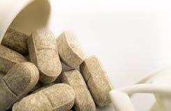 Pilules en gros plan image stock