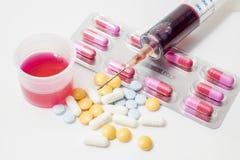 Pilules et médecines à la santé Photo libre de droits