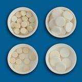 Pilules et Tablettes pharmaceutiques de médecine Photo libre de droits