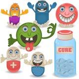 Pilules heureuses de bande dessinée Images stock