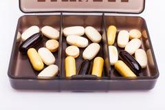 Pilules pour des athlètes Images stock