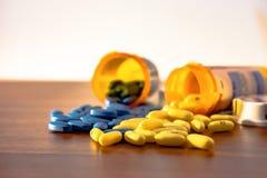 Pilules - profondeur de champ images libres de droits