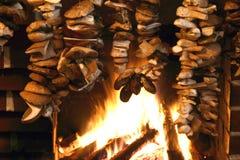 Pilz auf Kamin Lizenzfreie Stockbilder