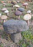 Pilz-geformte Steine Stockfoto