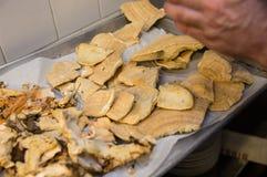 Pilz-Küchen-Vorbereitung Stockfotografie