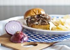 Pilz-Schweizer-Burger Lizenzfreies Stockbild