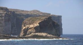 Pilzartiger Felsen, Gozo-Insel, Malta Stockbild