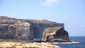 Pilzartiger Felsen, Gozo-Insel, Malta Lizenzfreies Stockbild