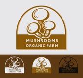 Pilzchampignonlogo Lokalisierter Pilz auf weißem Hintergrund Stockfotografie