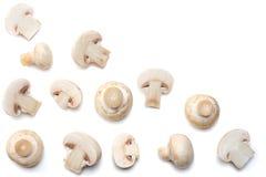 Pilze getrennt auf weißem Hintergrund Beschneidungspfad eingeschlossen Stockfotografie