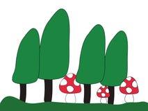 Pilze im Wald Stockfotografie