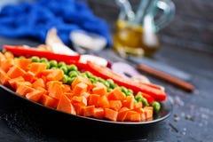 Pilze mit Gemüse stockfoto