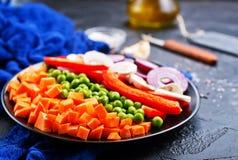 Pilze mit Gemüse stockfotos