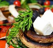 Pilze mit Käse stockfotografie