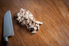 Pilze und Messer Stockbilder