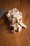 Pilze und Messer Lizenzfreies Stockbild