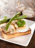 Pilze und Spargel Lizenzfreies Stockbild