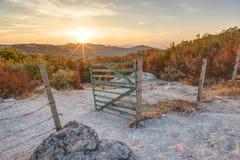 Pilzfelsenphänomen bei Sonnenuntergang Lizenzfreie Stockfotografie